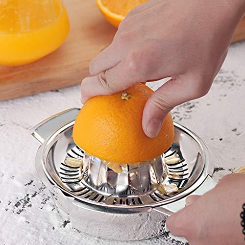 Stainless Steel Citrus Juicer Citrus Juicer Strainer - Lemon Fruit Juices Stainless Steel Manual Juicer Fruit Lemon Lime Orange Squeezer with Bowl Juicer Strainer