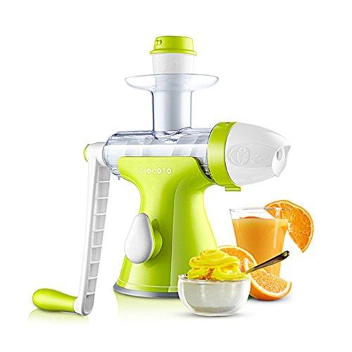 like love it Manual Juicer Masticating Slow Fruit Vegetable Wheatgrass Juicer Ice Cream Auger Juicer Green