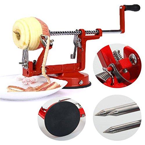 Apple Slinky Machine Peeler Corer Potato Fruit Cutter Slicer Kitchen Tool Red