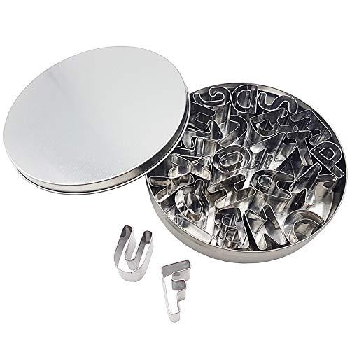 Kanntie 26 Pieces Alphabet Cookie Cutter Set A-Z - Premium Stainless Steel