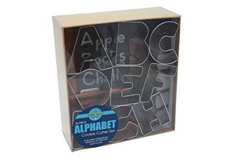 R&M International 1954 Alphabet 3 Cookie Cutters 26-Piece Set in Gift Box