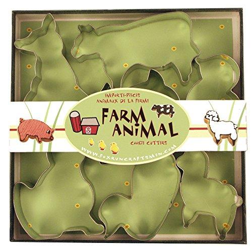 Fox Run 3651 Farm Animal Cookie cutters 1 x 35 x 35 inches Metallic