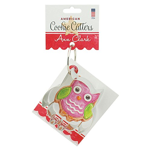 Owl Cookie and Fondant Cutter - Ann Clark - 35 Inches - US Tin Plated Steel