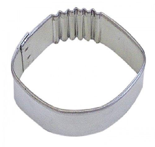 R M Football Cookie Cutter Mini Silver