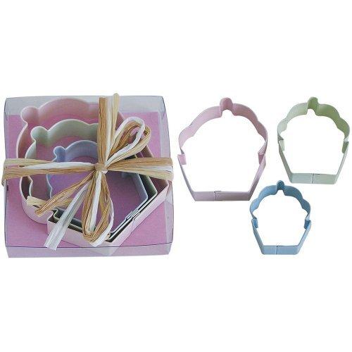 3 pc cupcake cookie cutter set