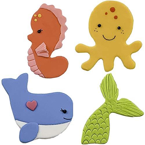 Sea Friends Cutie CupcakeCookie Cutter Set 4 pc