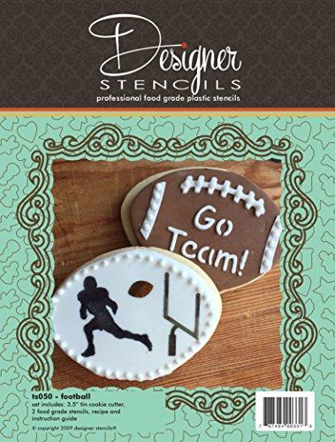 Football Cookie Cutter and Stencil Set by Designer Stencils