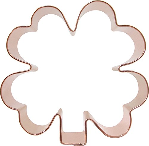 CopperGifts Clover Cookie Cutter 4 inch