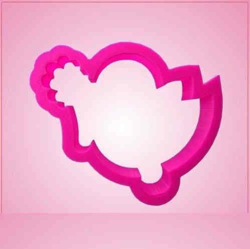 Pink Bella Birdie With Clover Cookie Cutter