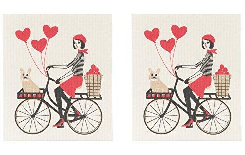Now Designs Swedish Dishcloth Set of Two Tour De Paris