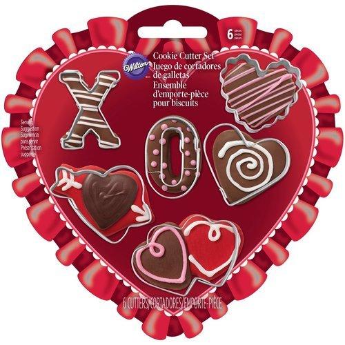 Wilton Valentines Day Mini Cookie Cutter Set 6 piece
