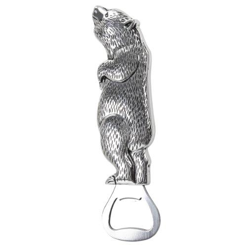 Thirstystone Bottle Opener Standing Bear Silver