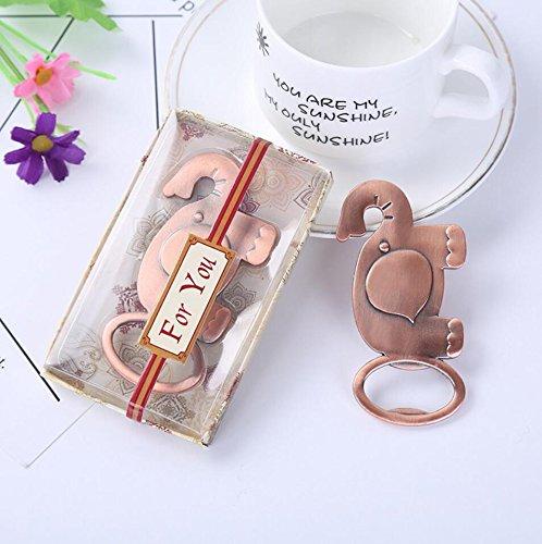 50pcs Bronze Lucky Elephant Bottle Opener For Wedding Favor