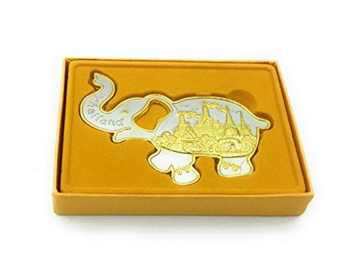 Beautiful Unique elephant bottle opener w Fridge Magnets - Metal gold finish - Great Gift