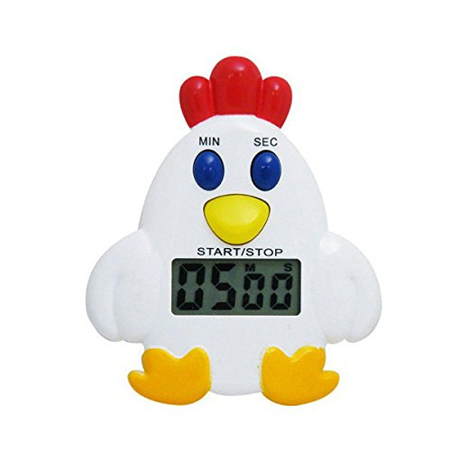 Bazaar LCD Chicken Countdown Timer Clock Digital Kitchen Timer With Alarm