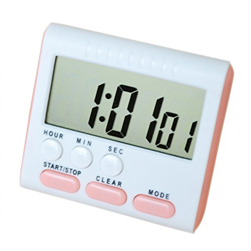 Acamifashion ABS Large LCD Digital Kitchen Count-down Cooking Timer- Pink