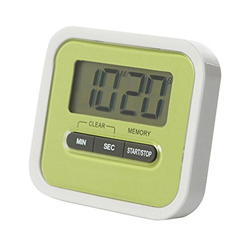 Meetcute Digital Clear LCD Display Kitchen Timer Count-Down Up Clock with Loud Alarm Magnetic Back and Retractable Stand Minute Clear LCD Display Convenient for Your Daily Life Green