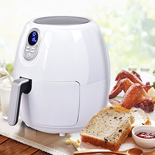 1500W Electric Air Fryer 48 Quart Digital LCD Screen Timer Temperature Control