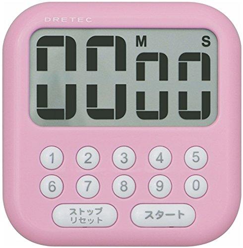 DRETEC large screen timer Soap 10 Pink T-194PK