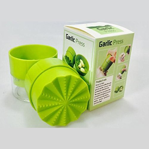 Toms Kitchen Garlic Press Garlic Chopper Garlic Mincer Crusher Extremely Minced for Vegetable Fruit Garlic Ginger