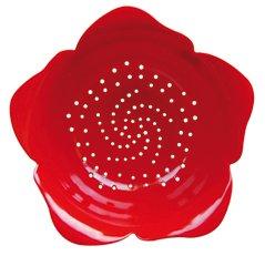 Zak Designs Rose Colander Red Fruit Vegetable Strainer