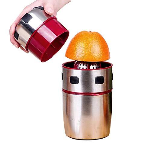 Stainless Steel Orange JuicerJuice SqueezerManual Lemon SqueezerPowerful Stainless Steel Orange Juicer Portable Manual Lid Rotation Citrus Juicer Lemon Orange Tangerine Juice Squeezer