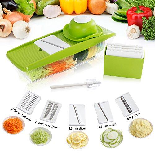 Lifewit 5 Blades Mandoline Slicer Straight SlicerVegetable Cutter Fruit Blade Potato Wavy Blade