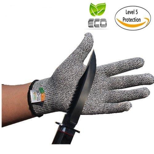 Cut Resistant Gloves Meat Slicer Mandolin Gloves-Food Grade Level 5 Protection 1 Pair Large