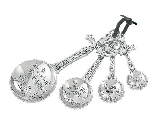 Ganz 4-Piece Measuring Spoons Set Cross