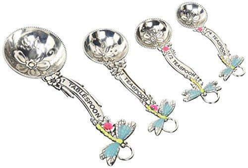 Ganz 4-Piece Measuring Spoons Set Dragonflies