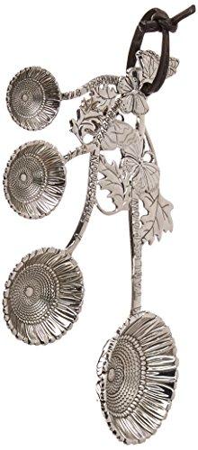 Ganz 4-Piece Measuring Spoons Set Sunflower