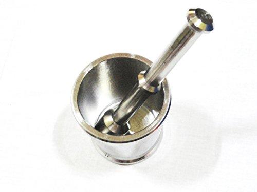 Stainless Steel KhalbattaStainless Steel Mortar Pestle KhalbattaOkhli Masher 2 Piece Set Silver