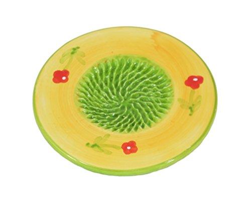 Ceramic Garlic Grater Plate - Flower