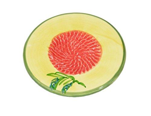 Ceramic Garlic Grater Plate - Orange Lavender