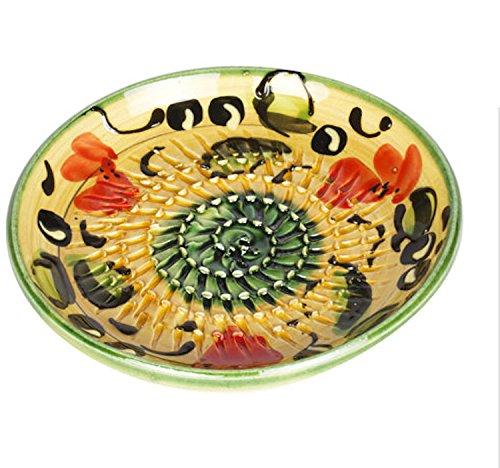 Colorful Ceramic Garlic Grater Plate - GreenYellow