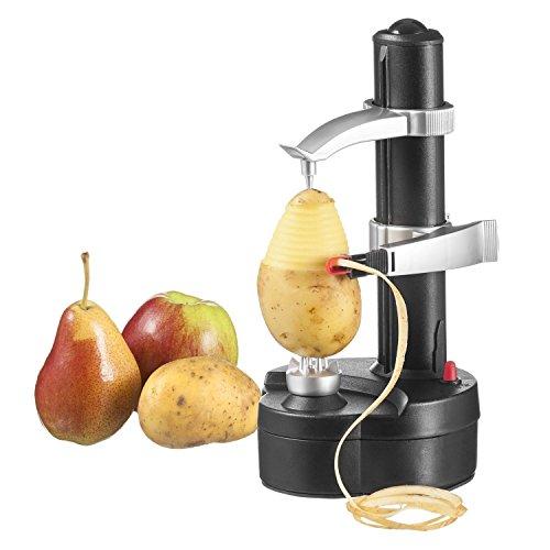 TOPCHANCES Automatic Multifunction Stainless Steel Electric Fruit Apple Peeler Potato Peeling Machine White Black