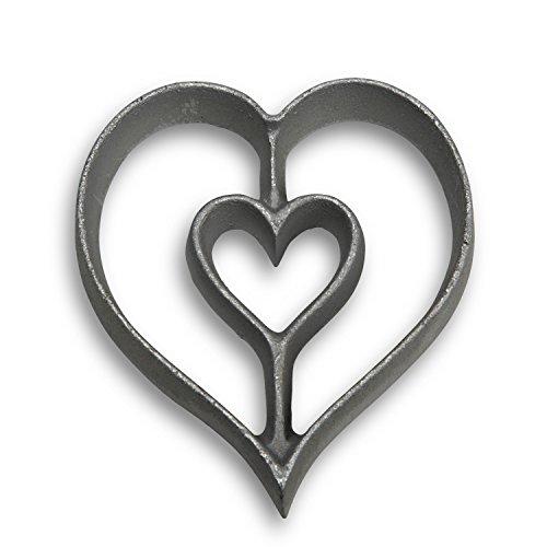 Honey-Can-Do 7006 Heart Rosette Iron
