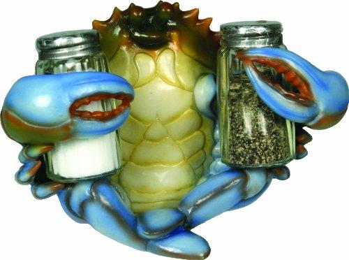 Rivers Edge Salt and Pepper Shaker Holder Blue Crab