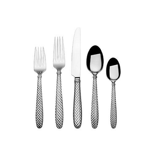 20-piece Wallace Reins Silver Stainless Steel Flatware Set Silver