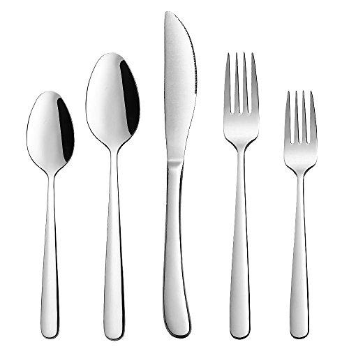 XINGBAO Silverware Flatware Cutlery Set Modern Flatware Cutlery Set for 8Include Knives Forks SpoonsMirror PolishedDishwasher Safe