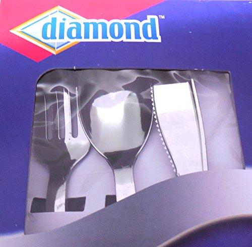 Diamond Silver Brilliance Plastic Flatware Premium Strength 75 Ct