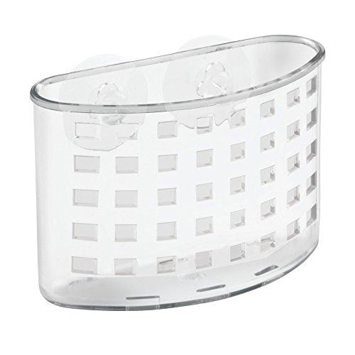 InterDesign Kitchen Sink Suction Holder for Silverware Flatware Cutlery - Clear