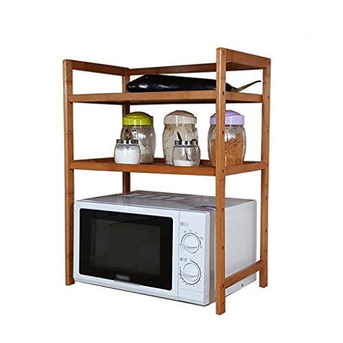 RYYAIYL Microwave Oven Shelf Desk Surface Multi-Layer Storage Rack 2 Floors Kitchen Oven Rice Cooker Double Seasoning Storage Rack Size  60cm