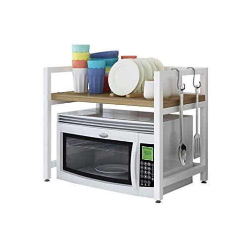 YJLGRYF Storage Shelf Multifunctional Microwave Oven Shelves Countertop Space Saver Metal Microwave Oven Rack Chopping Board White Storage Rack