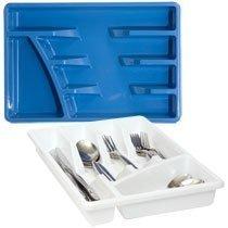 Cutlery Flatware Tray Organizer White Plastic 95 X 14