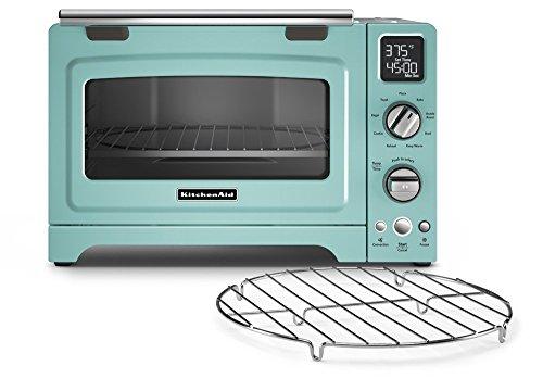 KitchenAid KCO275AQ Convection 1800-watt Digital Countertop Oven 12-Inch Aqua Sky Renewed