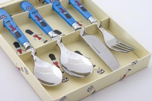 4 Piece Melamine Handled Childrens Cutlery - Soldiers - Martin Gulliver by Martin Gulliver