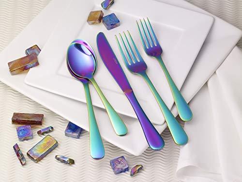 Lorena 20 pcs Silverware Flatware Cutlery Set Stainless Steel Utensils Service for 4 SPELLBOUND