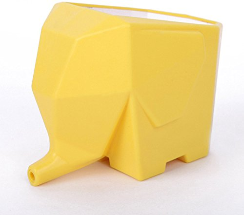 SIS Elephant-shaped Multi-role Plastic Cutlery Drainerflower Potbrush Pothome decor-yellow