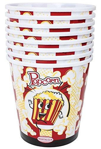Nostalgia Ppb600s8pk Round Popcorn Bucket Plastic 7 Dia